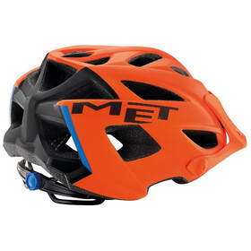 MET Terra Casco, matt orange/black/blue